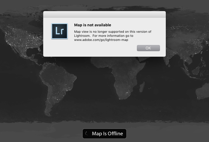 Loic Magnien Adobe Lightroom Map Module Not working Not supported solution